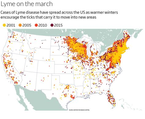 lyme disease map lyme disease is set to explode and we still don t a vaccine cary institute of ecosystem