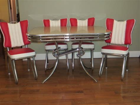 Rare Style Ready To Use 1950 S Art Deco Chrome Formica Deco Kitchen Table