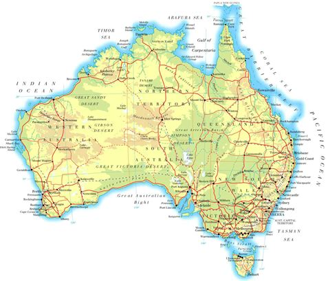 australian map of world maps of australia map library maps of the world
