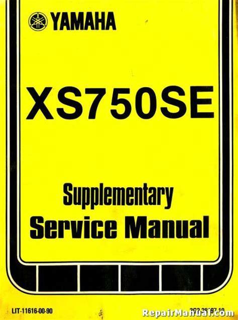r xs supplements 1978 yamaha xs750se service manual supplement