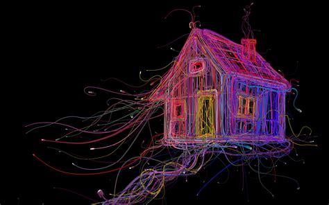 wallpaper house cgi   creative graphics
