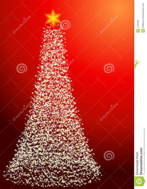 starry christmas tree portrait orientation stock vector