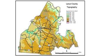 larue map groundwater resources of larue county kentucky
