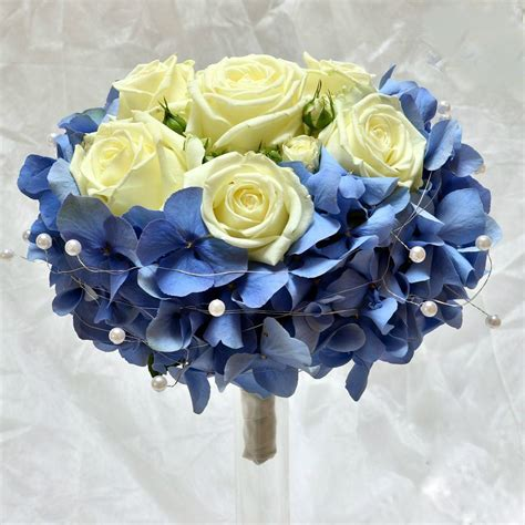 Wedding Bouquet Hydrangea And by Wedding Bridal Bouquet With Blue Hydrangea And Or