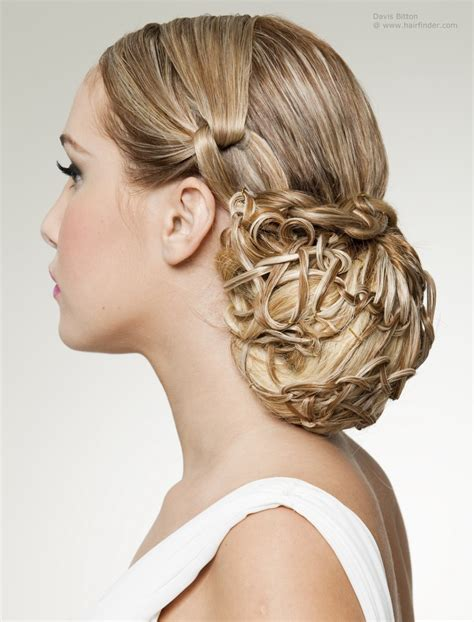 by hairstyle hair up style inspired by the classic snood