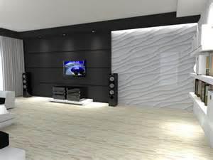 salon z panelami 3d twoiarchitekci
