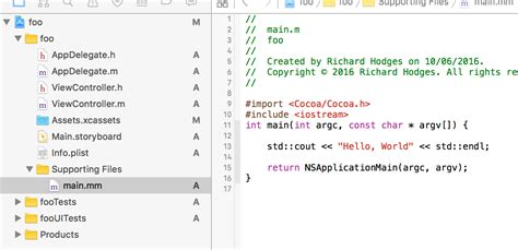 pattern programs in objective c how to use c c program or classes in objective c xcode
