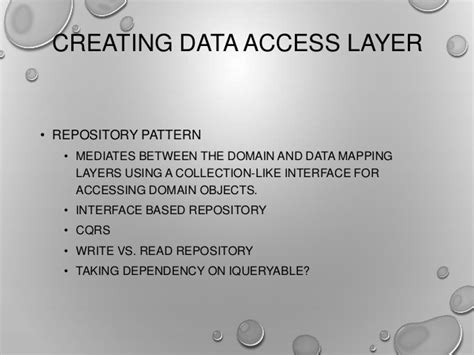 Repository Pattern Vs Data Access Layer | entity framework code first end to end