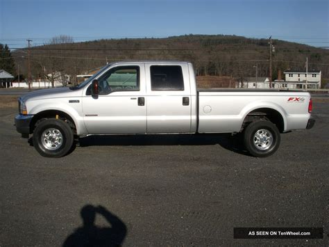 crew cab long bed fx4 4x4 ford f350 superduty 2004 long bed crew cab all