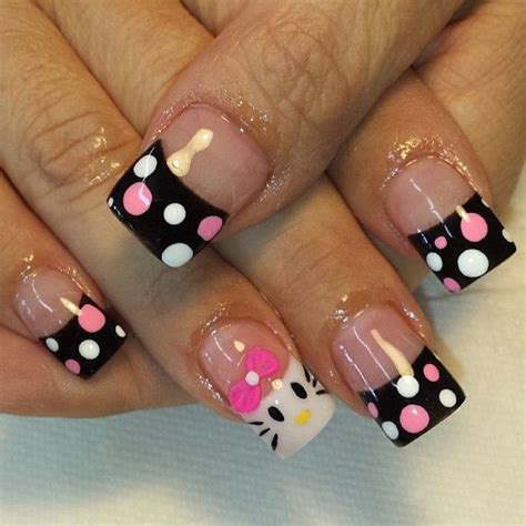 nail art tutorial hello kitty french tips 12 cute hello kitty nail design ideas kitty nail nail