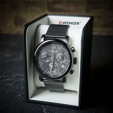 Swiss Army Sa012 Black Blue wenger classic chrono mens swiss army black