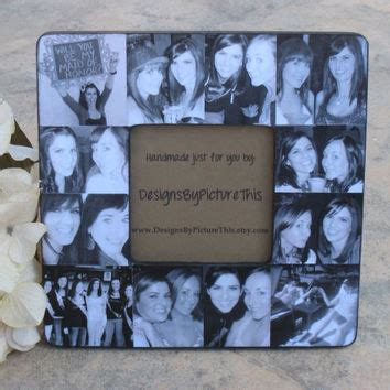 unique bridal shower gift from of honor personalized of honor picture frame from designsbypictureth