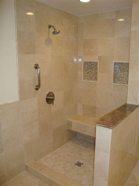 Tiles For Bathroom Showers 9 Best Images About Crema Marfil Bathroom On Cherries Hallways And Quartz Counter