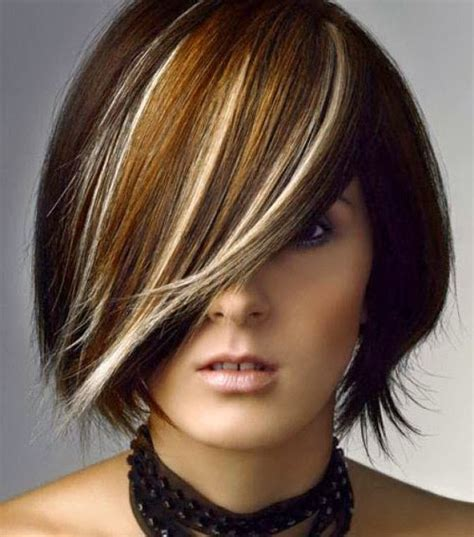 hairstyles blonde dark underneathe chunky highlights for pictures to pin on pinterest