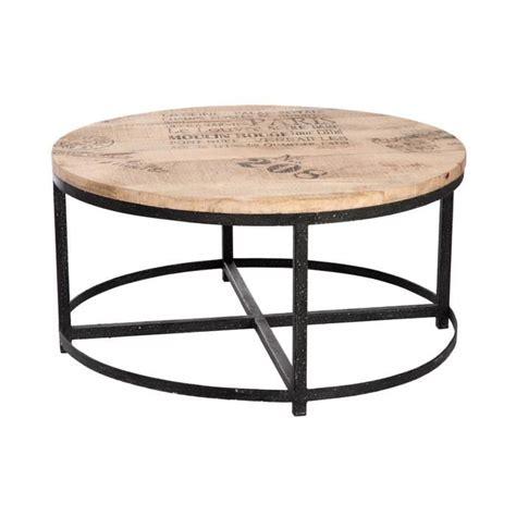 table basse bois et metal 99 table basse ronde en bois et pieds m 233 tal coloris bois