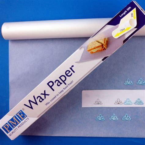 How To Make Wax Paper - bakeria pme wachspapier 6 meter wax paper