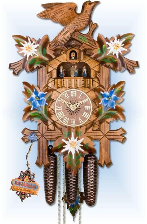 Modern Coo Coo Clock adolf herr alpine flowers cuckoo clock 19 bavarian
