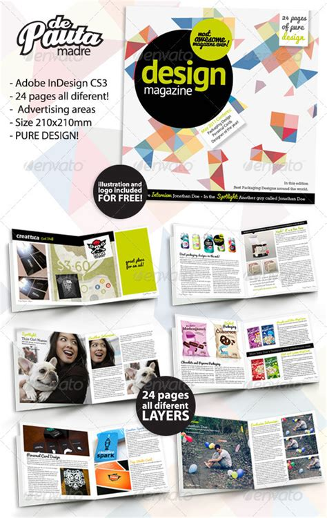 Design Magazine Indesign Template By Depautamadre Graphicriver Magazine Template Indesign Free