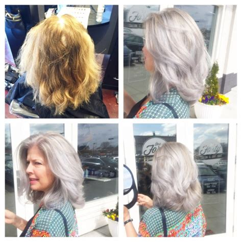 grey hair pics before and after going gray 187 140salon