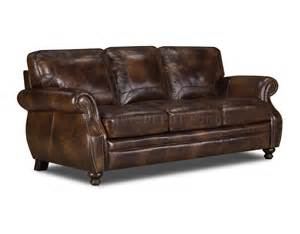 Grain Leather Sofa Brown Top Grain Leather Traditional Sofa W Optional Items