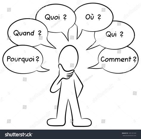 doodle qui amène quoi vector illustration who asks questions stock vector
