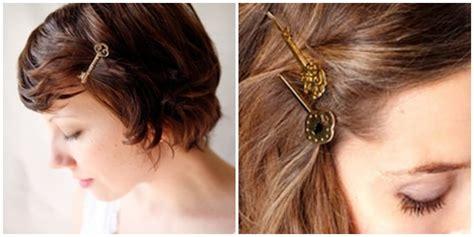 jepit rambut unik bentuk gembok dan kunci vemale