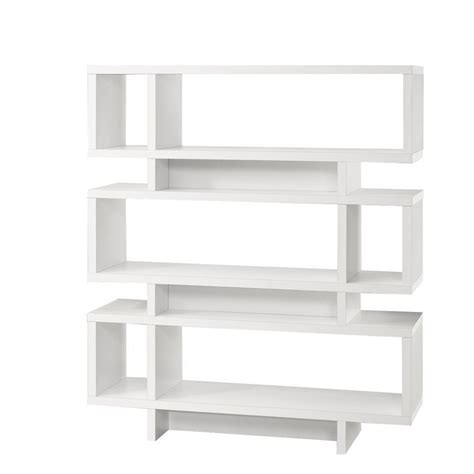 bookcase 55 quot h white modern style i 2532 canada