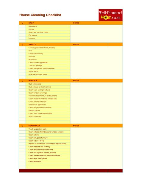 Cleaning Checklist For Warehouse Dental Office Cleaning Checklist Template