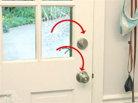 install security film   glass door  protect