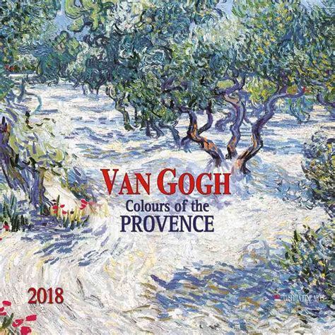 2018 daily diary gogh the starry january 2018 december 2018 lined one page per day journal books vincent gogh colours of the provence calendars