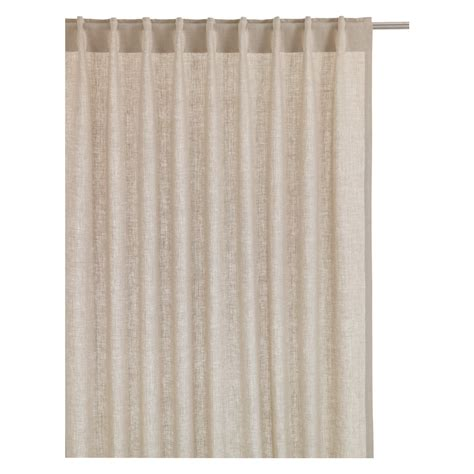 natural linen drapes albany pair of natural linen curtains 135 x 170cm buy