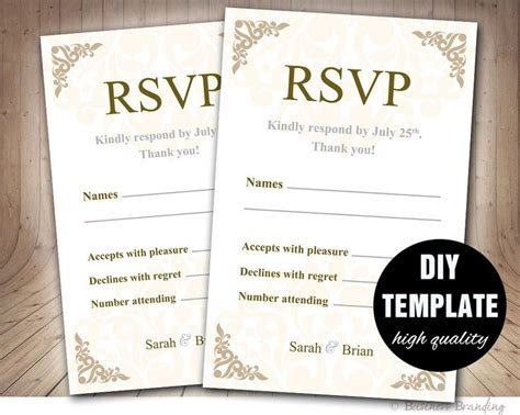 rsvp template word 17 best ideas about response cards on wedding