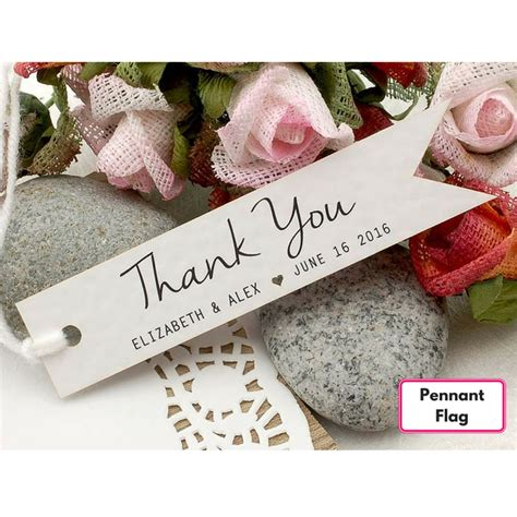 Personalised Wedding Gift Thank You Cards - personalized white wedding favor thank you gift tags set b 4 designs wedding