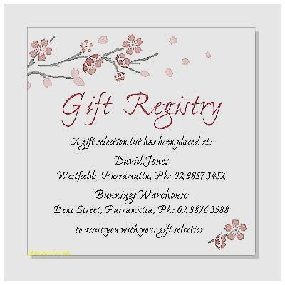 Babyshower Registry Card Template The Bump by Baby Shower Invitation New Baby Shower Gift Registry