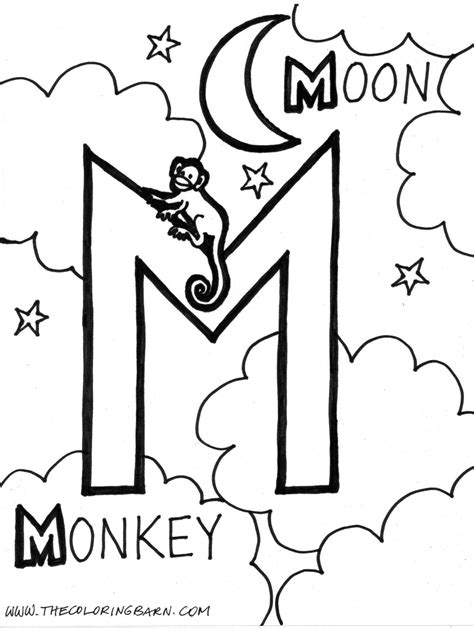 M Coloring Pages by Letter M Coloring Pages To And Print For Free