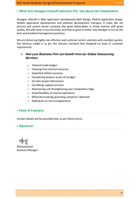 Business Letter For Website Development Bull Hotel Website Design Development