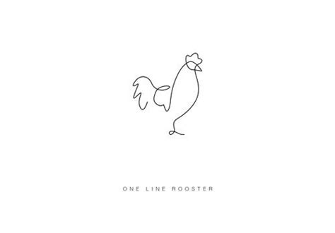 tattoo animal line rooster easy draw one line draw tiny tattoo animal draw