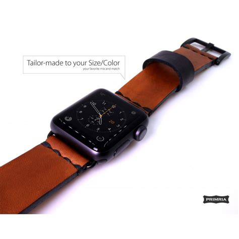 Apple Series 4 Leather Band by Apple Handmade Leather Straps Bands Adapters Included Coffee Brown