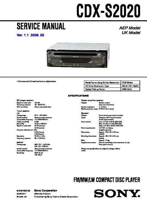 sony xplod cdx sw200 wiring diagram 35 wiring diagram