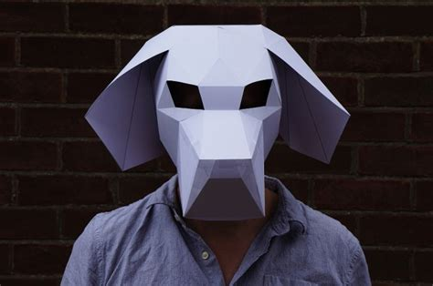 Papercraft Wolf Mask - wars other 3d papercraft masks by steve wintercroft