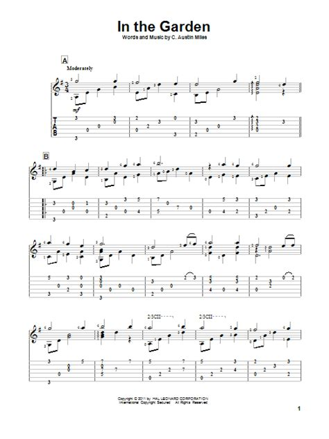 The Gardener Chords by In The Garden Guitar Tab By C Guitar Tab 84705