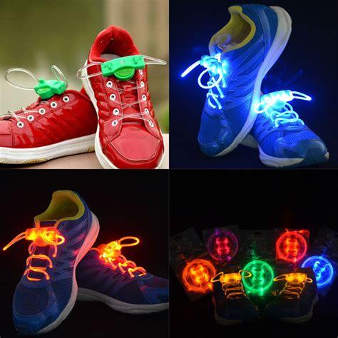 Sepatu Led Anak Led Daldas Garis Biru Pink jual tali sepatu led led shoelace 2pcs pan pan