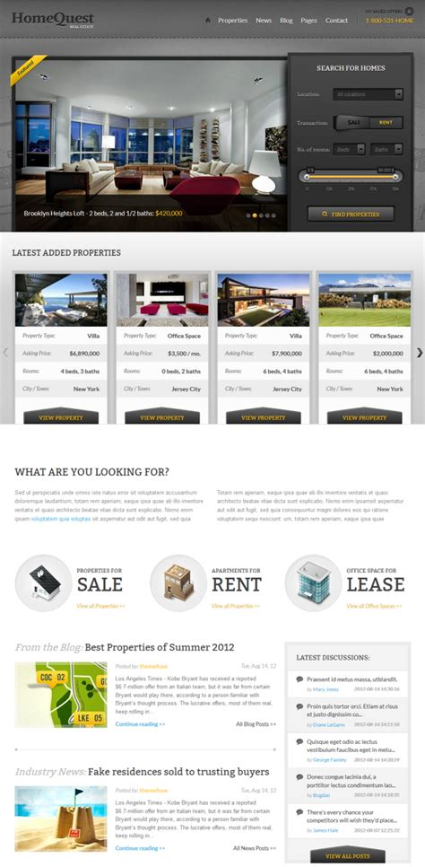 homequest a premium business theme free