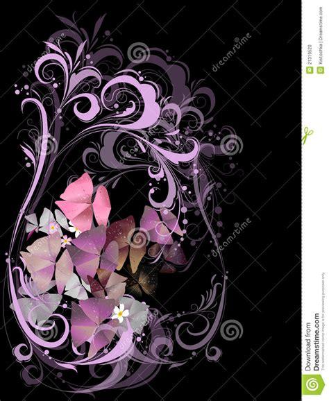 imagenes negro con ramo de flores en color de rosa en un fondo negro foto de