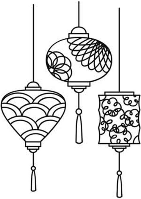 new year lantern drawing paper lantern coloring pages