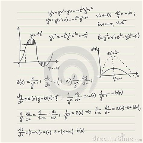 pattern vectors from algebraic graph theory vector pattern with mathematical formulas stock vector