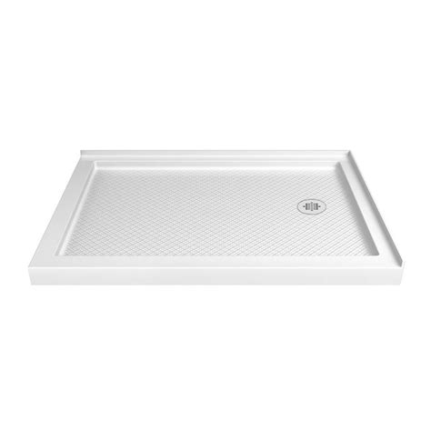 34 X 34 Shower Base by Shop Dreamline Slimline 48 In L X 34 In W White Acrylic Rectangle Corner Shower Base At Lowes