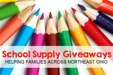 School Supply Giveaway - free school supply giveaways across northeast ohio