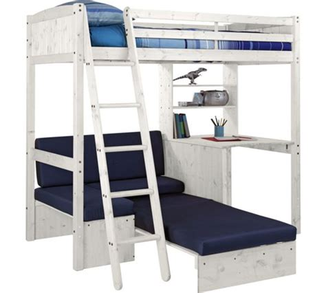 Argos High Sleeper Beds buy classic high sleeper bed with blue sofa bed white