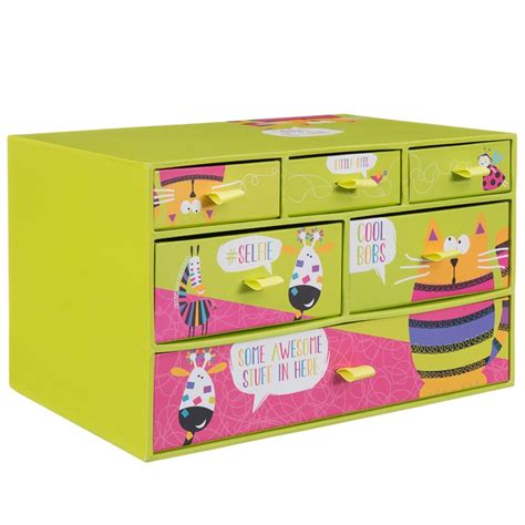 doodle drawing boxes 6 drawer storage box animals stationery storage boxes
